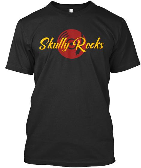 Skully Rocks Black T-Shirt Front