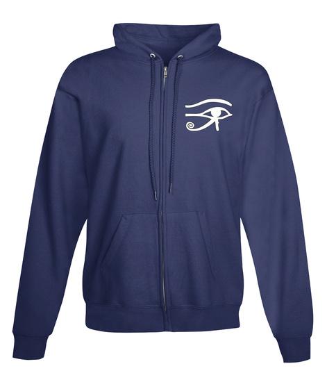 Eye Rah Egyptian Zip Hoodie Sweatshirt Navy  Sweatshirt Front