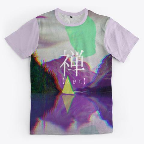 【zen】 Light Purple T-Shirt Front