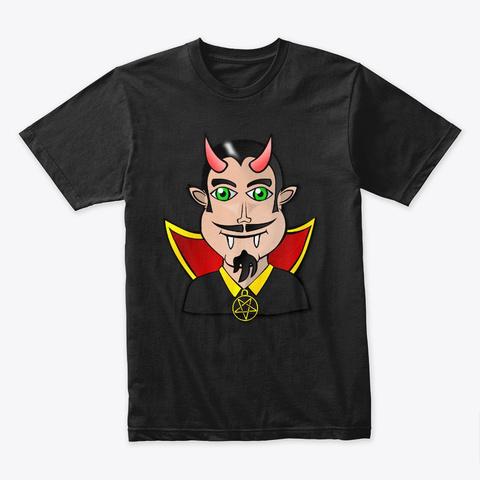 Halloween   Devil Vampire, Dracula Black T-Shirt Front