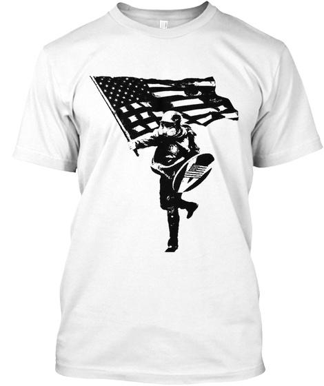 Based Stick Man! White T-Shirt Front