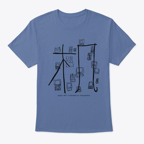 Mus If: Digital Archeology Denim Blue T-Shirt Front