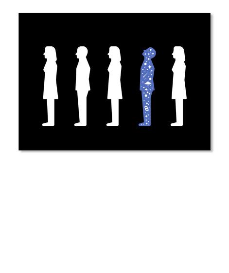 Stargazer Man Sticker [Usa] #Sfsf Black Stiker Front