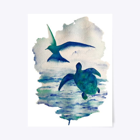 Little Tern, Bumbling Turtle White T-Shirt Front