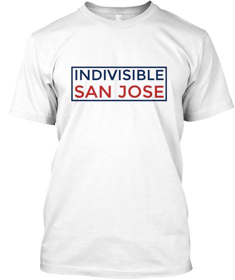 Indivisible San Jose White T-Shirt Front