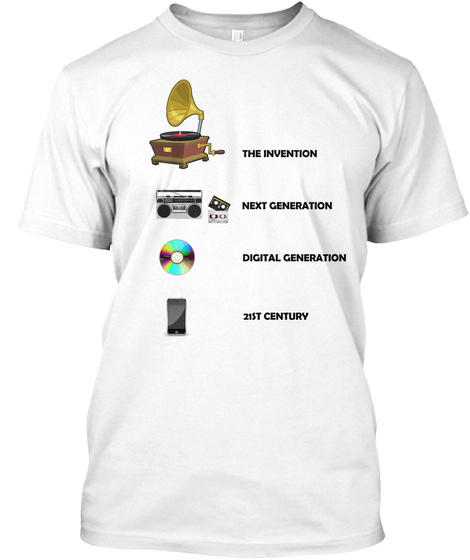 The Evolution Of The Music Machine White T-Shirt Front