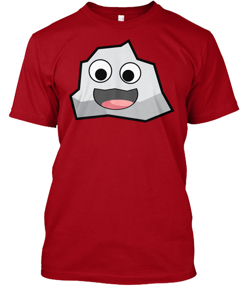 Rockie Emote Apparel Deep Red T-Shirt Front