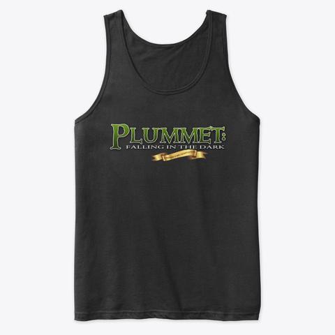 Plummet, vest top, ttrpg, black vest with Plummet series logo