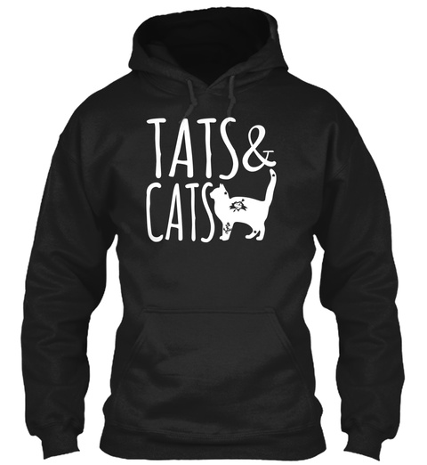 Tats & Cats Black Sweatshirt Front