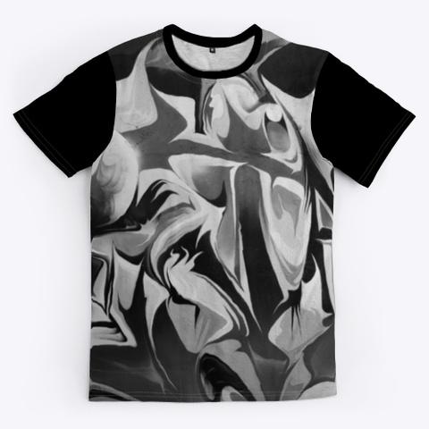 T Shirt: Abstract World Black T-Shirt Front