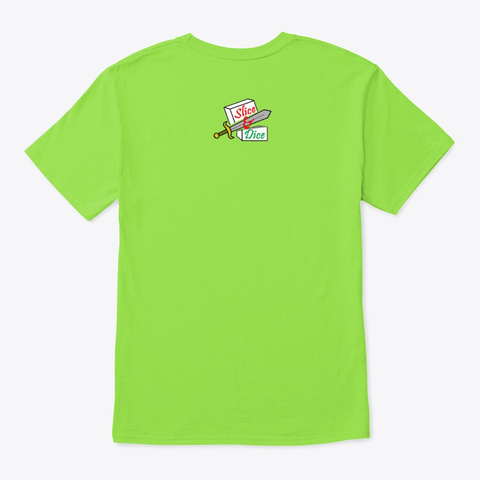 Shake, Rattle And Roll Lime T-Shirt Back