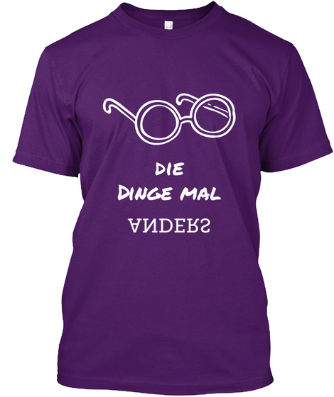 Die Dinge Mal Anders Purple T-Shirt Front