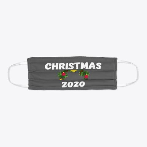 Christmas Holiday Season Wreath 2020 Charcoal T-Shirt Flat