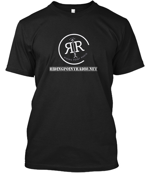 Rr Riding Point Radio Ridingpointradio.Net Black T-Shirt Front