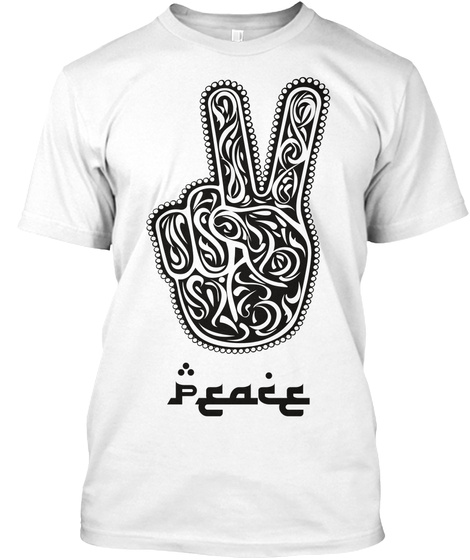 Peace White T-Shirt Front