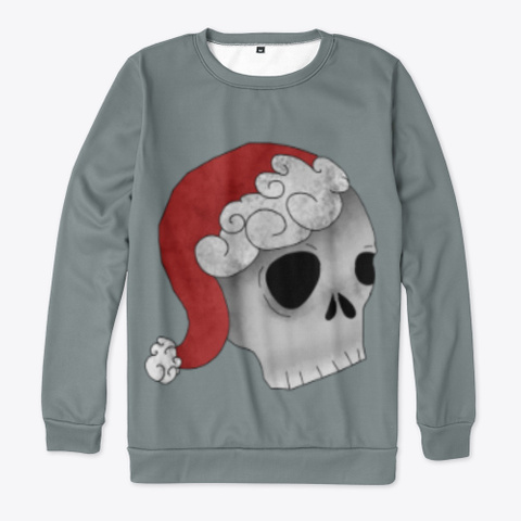 Holiday Skull Medium Grey Maglietta Front