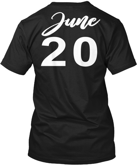 June 20   Gemini Black T-Shirt Back