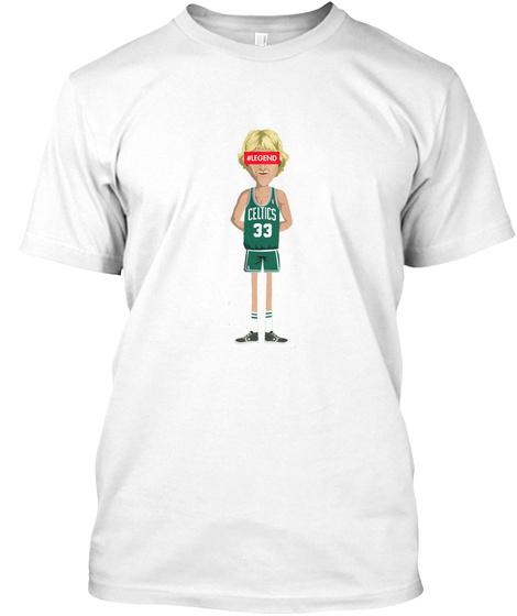 #Legends Celtics 33 White T-Shirt Front