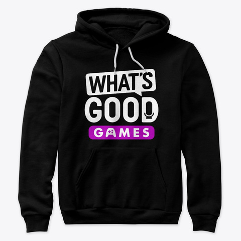 What's Good Games Gear Black T-Shirt Front