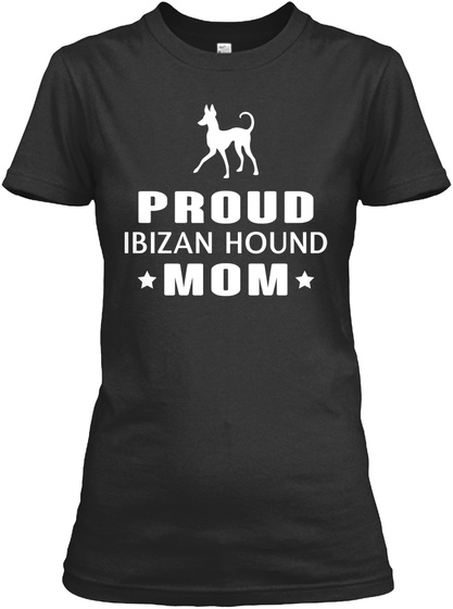 Ibizan Hound Black T-Shirt Front