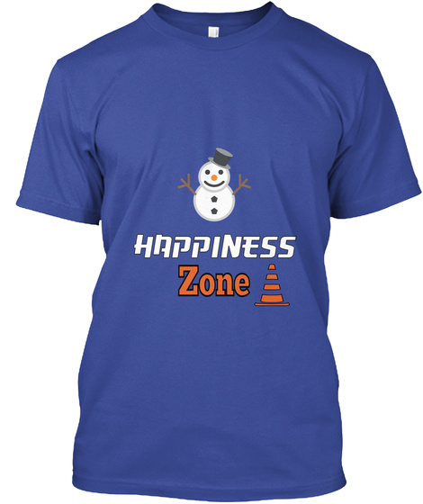 Happiness Zone Deep Royal T-Shirt Front