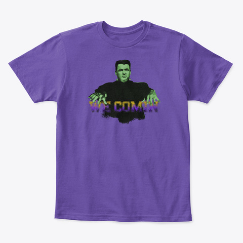 An Error Occurred. Please Check Your Internet Connection. Purple  T-Shirt Front
