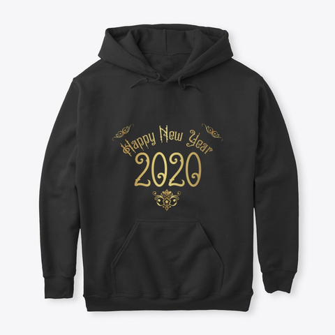 2020 Happy New Year Black T-Shirt Front