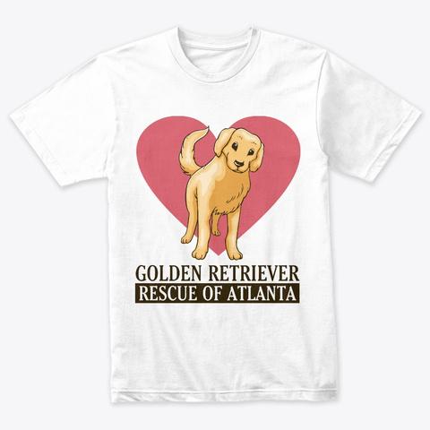 Grra Golden Heart Pup Heather White T-Shirt Front