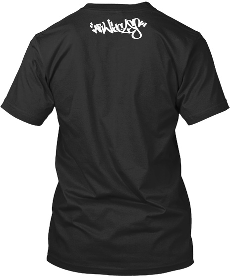 Bounce Rock Skate Roll Black T-Shirt Back