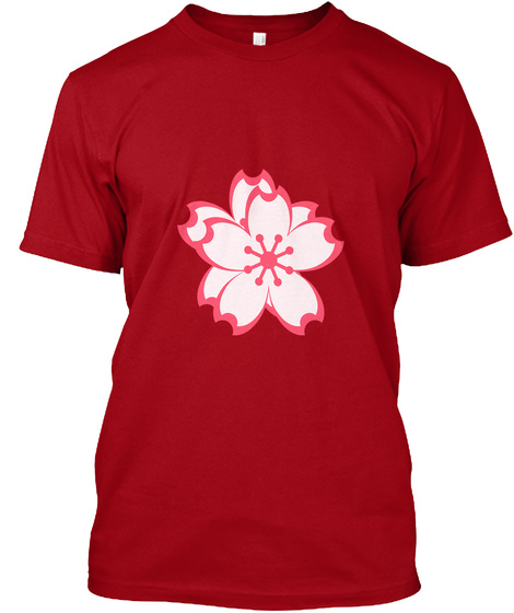 Red Flower Collection Deep Red T-Shirt Front