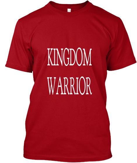 Kingdom Warrior Deep Red T-Shirt Front