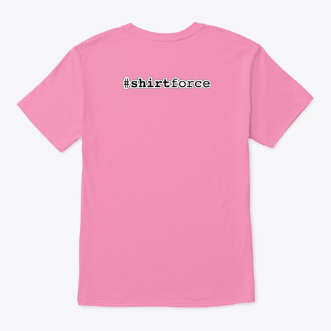 Cloudy, With A Chance Of Metadata Pink T-Shirt Back