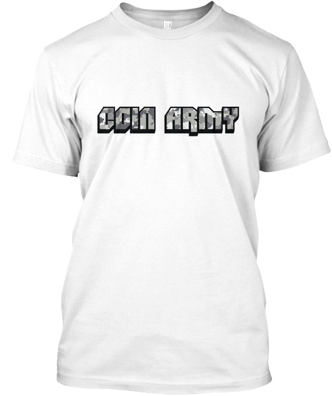 Bitwear   Coin Army T Shirt White T-Shirt Front