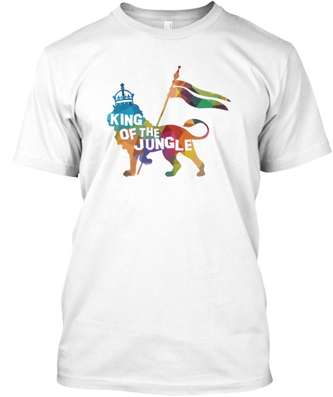 King Of The Jungle   Lion, Animal, Wild White T-Shirt Front