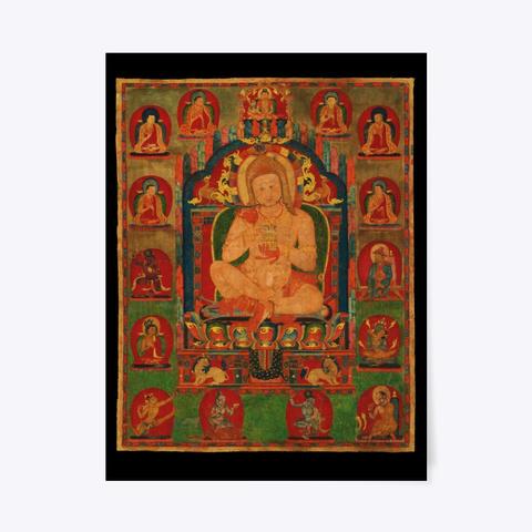 Buddha Tibet 1350 Black T-Shirt Front