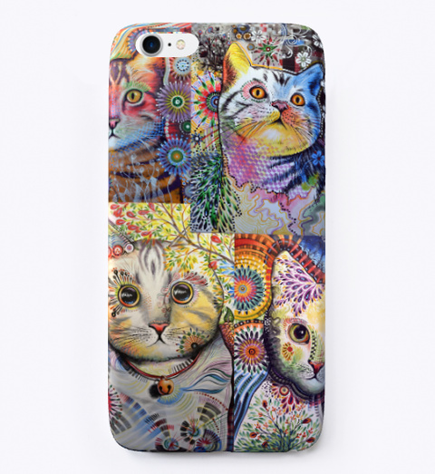 Funny Cat Phone Case Standard T-Shirt Front