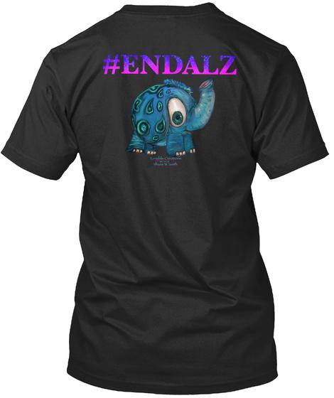Endalz Black T-Shirt Back