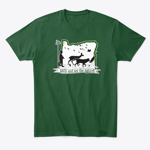 Nature Road Forest Green  T-Shirt Front