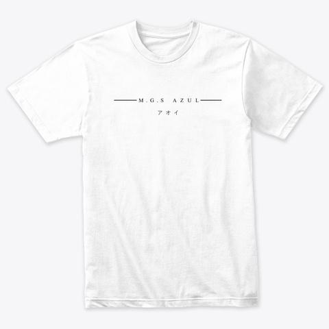 M.G.S Azul   Heather White T-Shirt Front