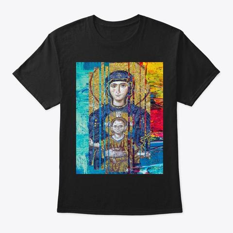 Mother Eternal Design Black T-Shirt Front