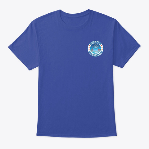 2020 Oc Air Show Official Merchandise Deep Royal T-Shirt Front