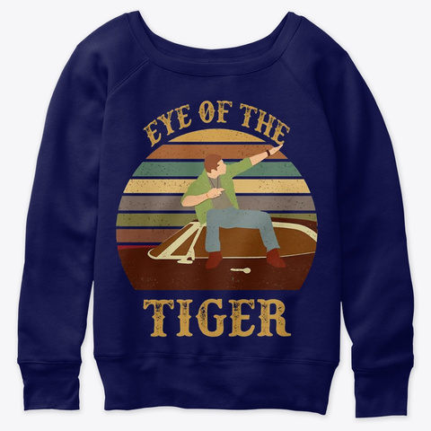 Eye Of The Tiger Vintage Shirt Retro Navy  T-Shirt Front
