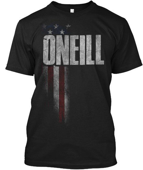 Oneill Family American Flag Black T-Shirt Front