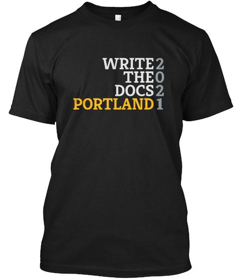 Write2 The0 Docs2 Portland1 Black Maglietta Front