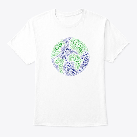 Law Of Attraction White T-Shirt Front