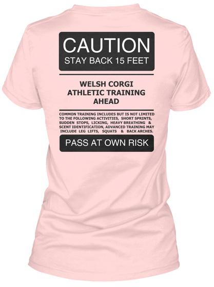 Corgi Dog Shirt Light Pink T-Shirt Back