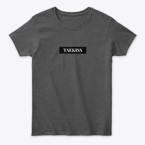 Taekiss Label Charcoal T-Shirt Front