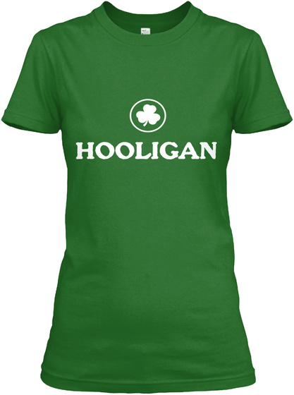 Hooligan Irish Green Women's T-Shirt Front