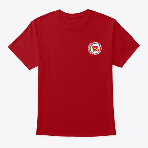 100% Prc Deep Red T-Shirt Front