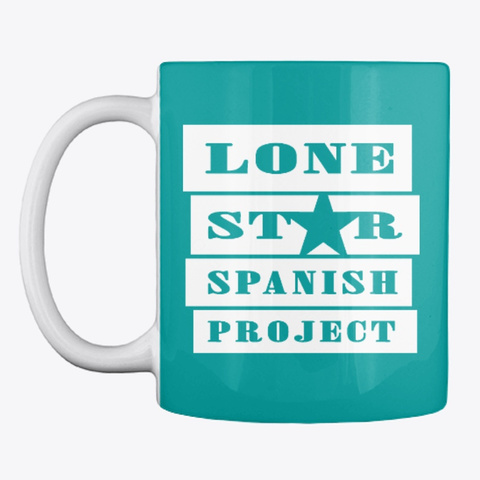 Lone Star Spanish Project Logo   Solid Aqua T-Shirt Front